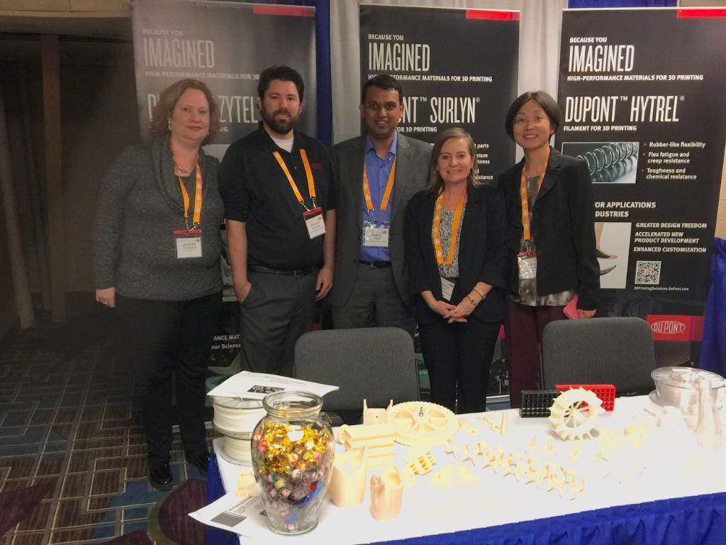 DuPont showcased the 3D printing materials at AMUG this week. Photo via DuPont.