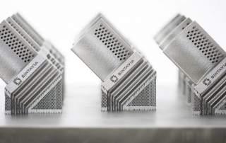 Titanium aerospace blades produced by Sintavia on an SLM 280HL Machine from SLM Solutions. Image via Sintavia.