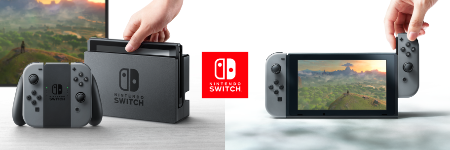 The Nintendo Switch in just two of its many playable forms. Image via Nintendo.