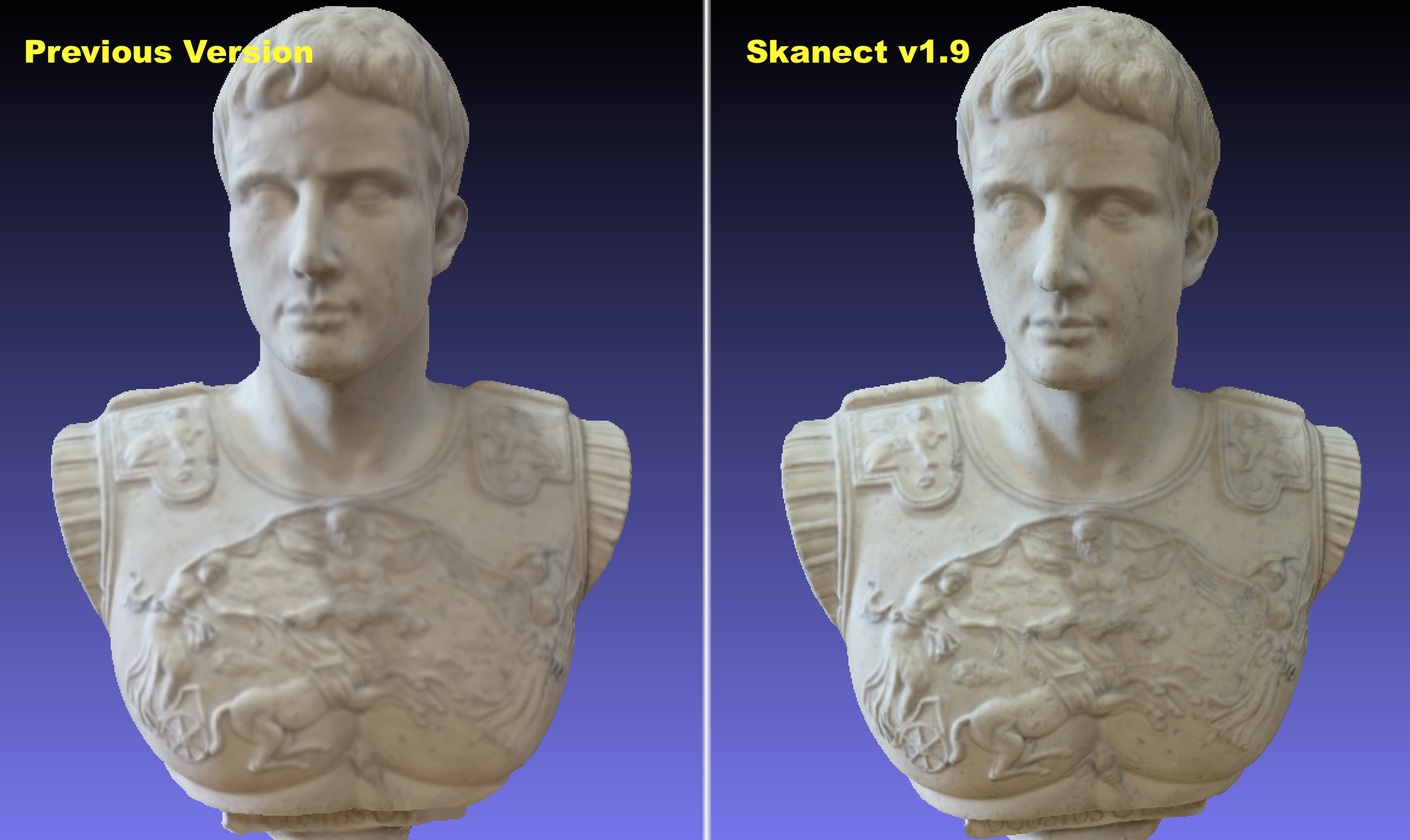Comparison of the Skanect update. Image via Occipital.