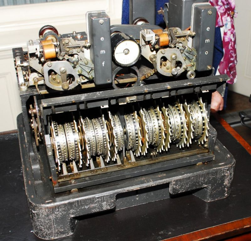 The Lorenz SZ42 machine at Bletchley Park. Photo via the National Museum of Computing.