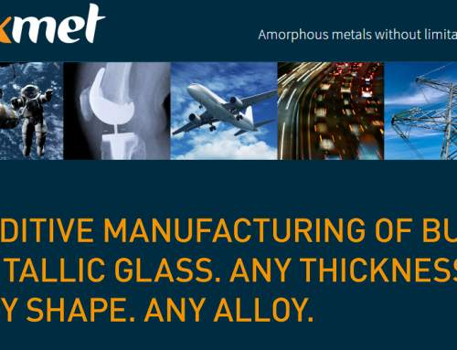 Additive manufacturing investment by AM Ventures to accelerate Exmet's commercialization of amorphous metals