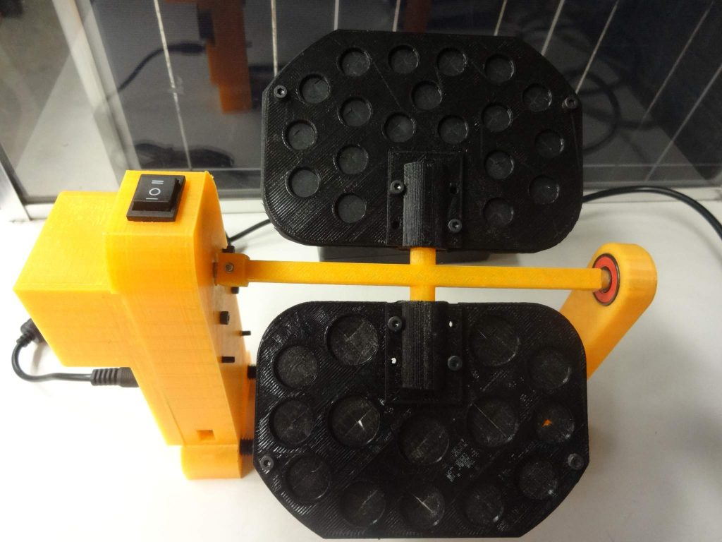 A 3-D printable open source sample rotator that cuts over 90% of the cost of a commercial versions of the same scientific equipment recently published in HardwareX, a new open source scientific hardware journal (photo:J Pearce, GNU FDL).