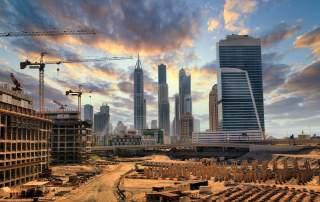 Construction in Dubai. Image via Emirates Rebar Limited.