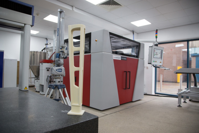 Voxeljet VX1000 machine in situ at the Sheffield plant. Photo via William Cook