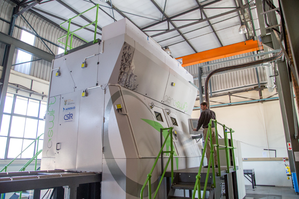The Aeroswift machine housed at the South African Council for Scientific and Industrial Research (CSIR) in Pretoria. Photo via CSIR.