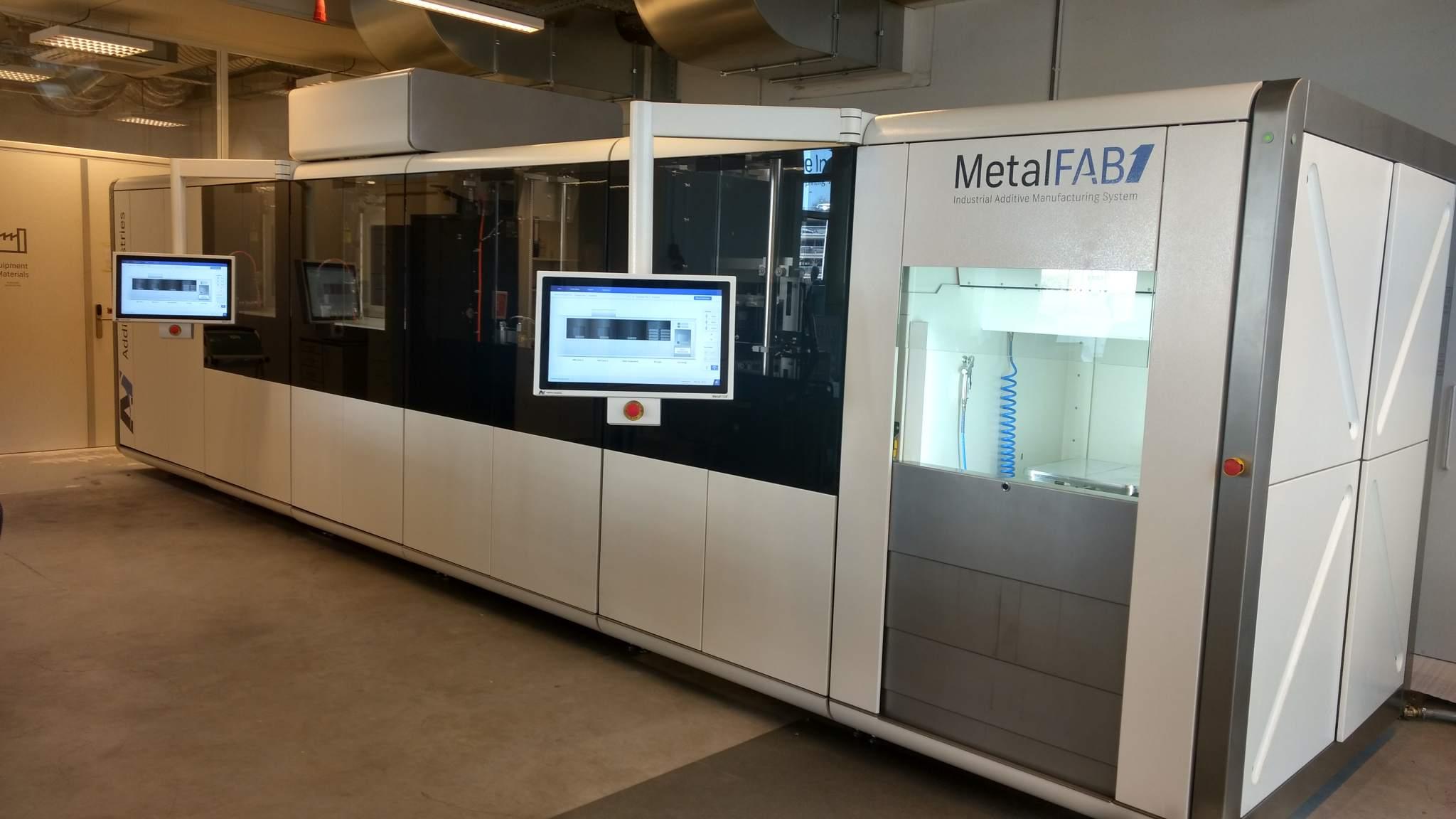 The MetalFAB1 machine at Additive Industries HQ. Photo by Corey Clarke.