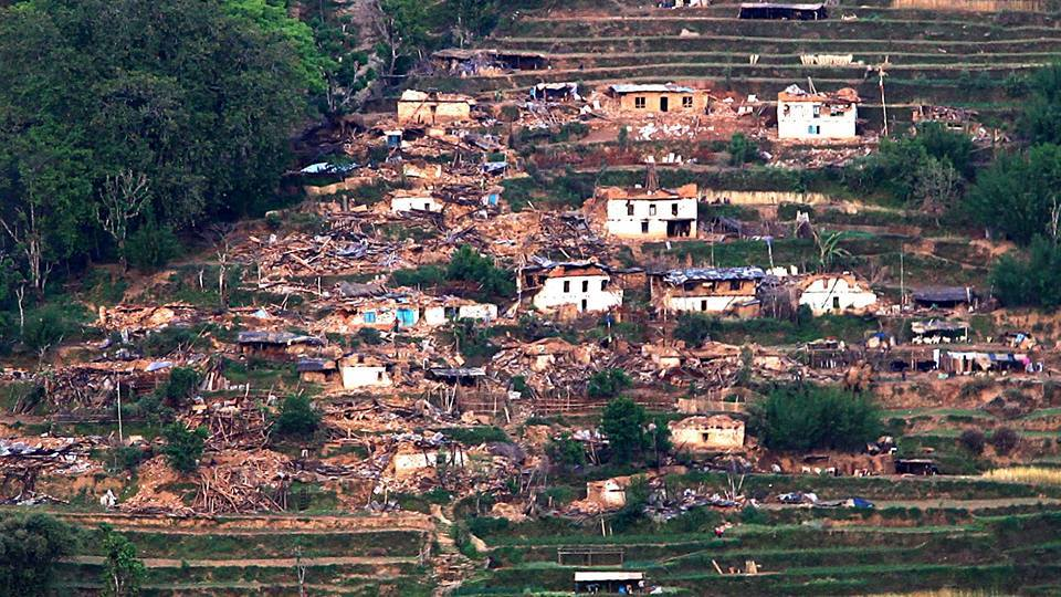 One of the Sindhupalchowk villages that was destroyed in the earthquake. Photo via Nepaleq.org