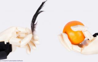 3D printed hands designed by WiDE. Photo via Fricis Pirtnieks