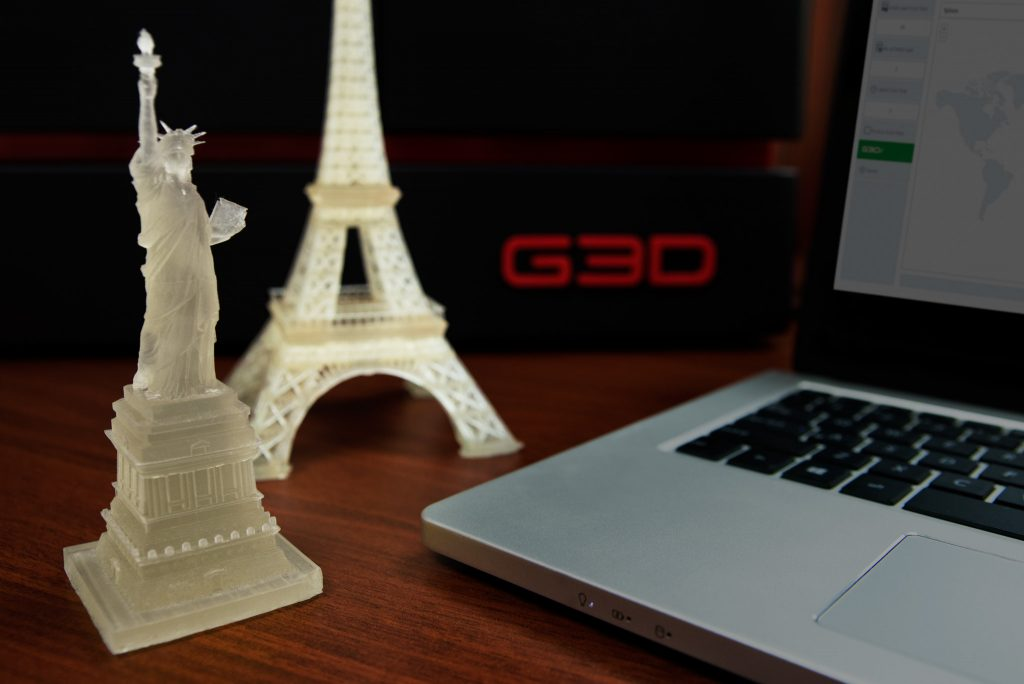 G3D T-1000 3D prints. Photo by G3D.