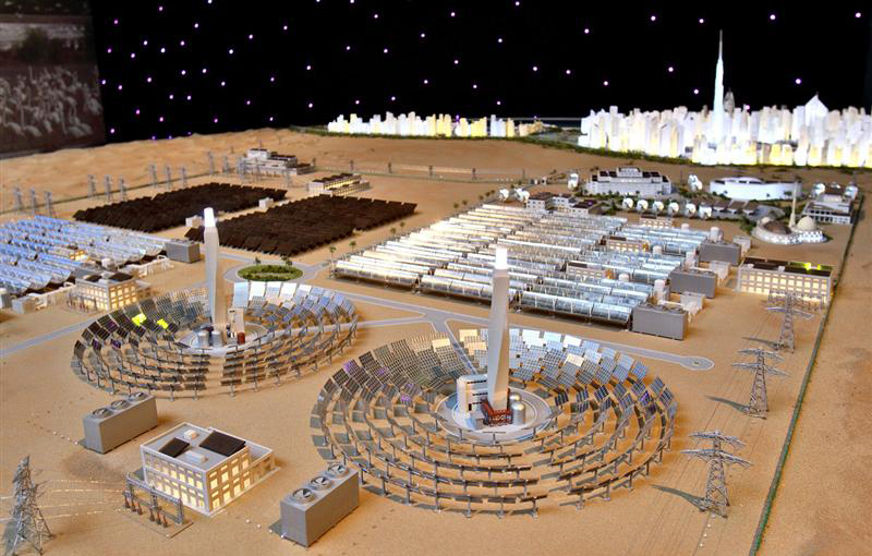 Scale plan of the Shaikh Mohammed bin rashid Al maktoum Solar Park in Dubai. Photo via venturesonsite