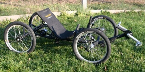 The finished Utah Trikes quad-cycle, first prototyped in FDM Nylon 12CF. Photo via Stratasys