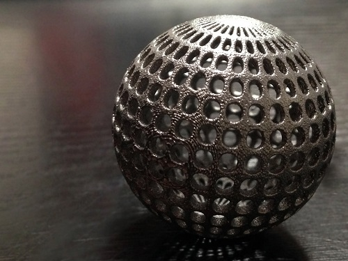3D printed object made using PyroGenesis' plasma atomized powders. Photo via PyroGenesis.