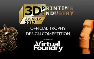 The 3D Printing Industry Awards trophy will be 3D printed in metal, using the winning design from this competition.