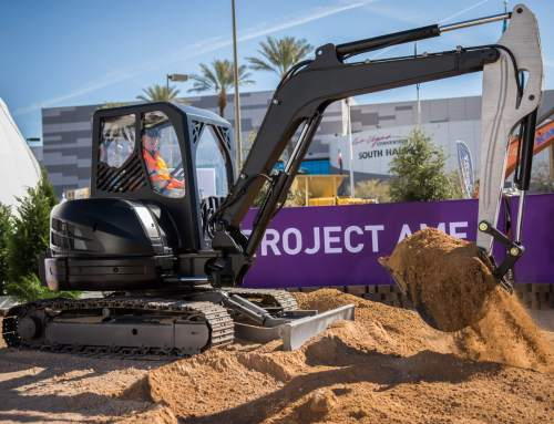 Project AME the 3D printed excavator showcased in Las Vegas