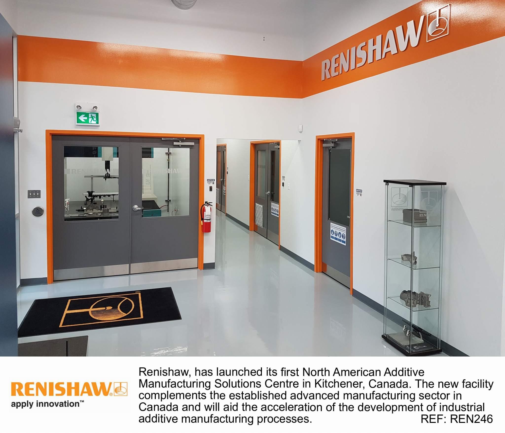 Inside Renishaw's new Kitchener facility. Image via Renishaw.