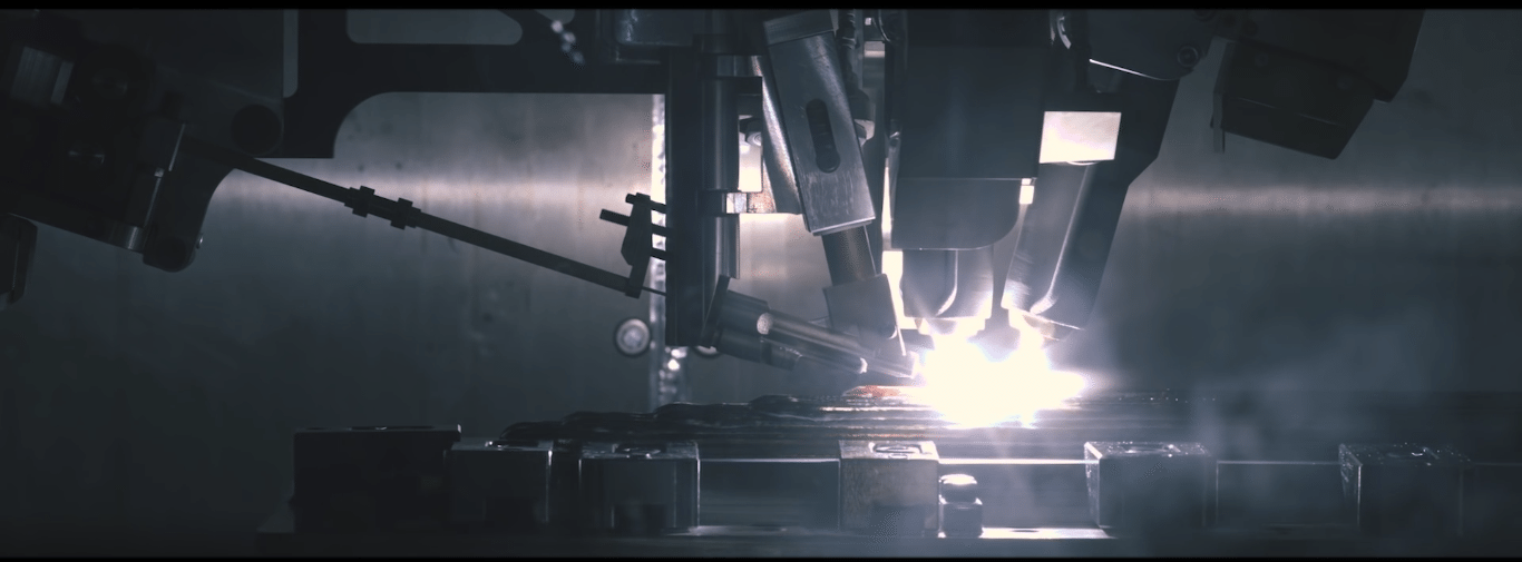 The rapid plasma deposition process in action. Image via Norsk Titanium.