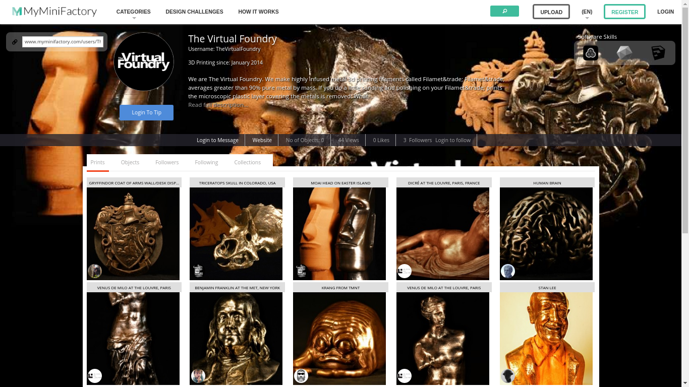 The Virtual Foundry's designs on MyMiniFactory showcase the potential of their Filamet™.