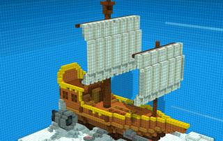 A SkyShip 3D modeled in Voxelise. Image via Digimania