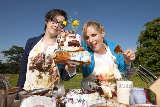 Sue and Mel of the BBC's Great British Bake Off Copyright Love Productions - Photo by: Des Willie