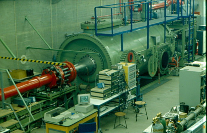 The TH2 Hypersonic Shock Tunnel at the Shock Wave Laboratory (SWL) in Germany. Photo via SWL.