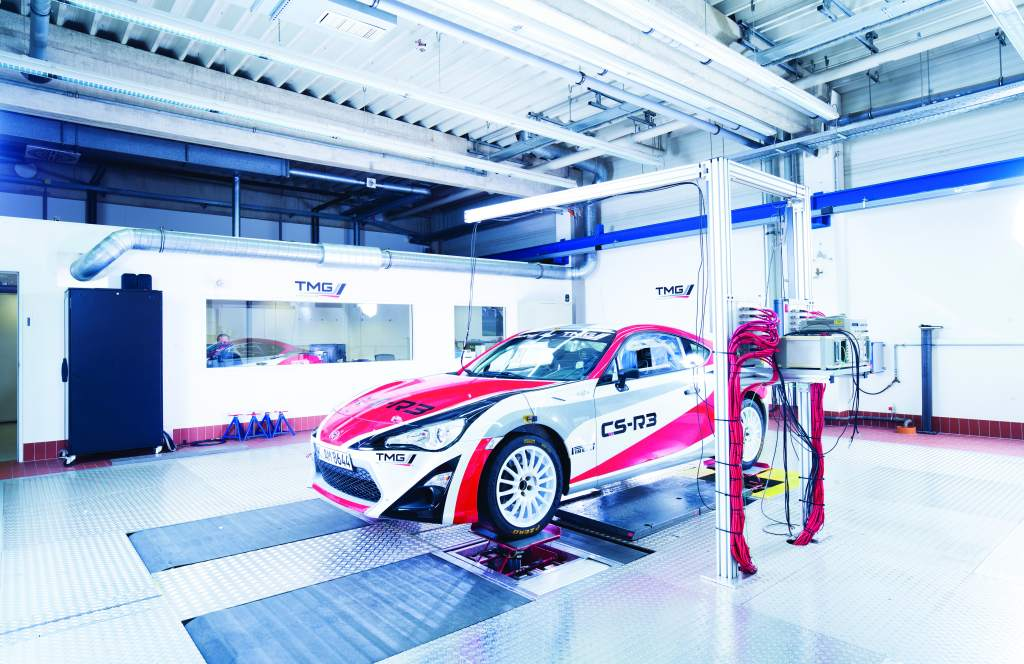 Design development of the GT86 CS-R3 rally car. Photo via Toyota Motorsport