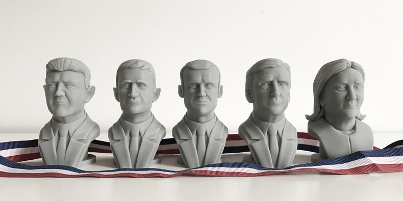 The 3D printed candidates. Photo via Cults 3D.