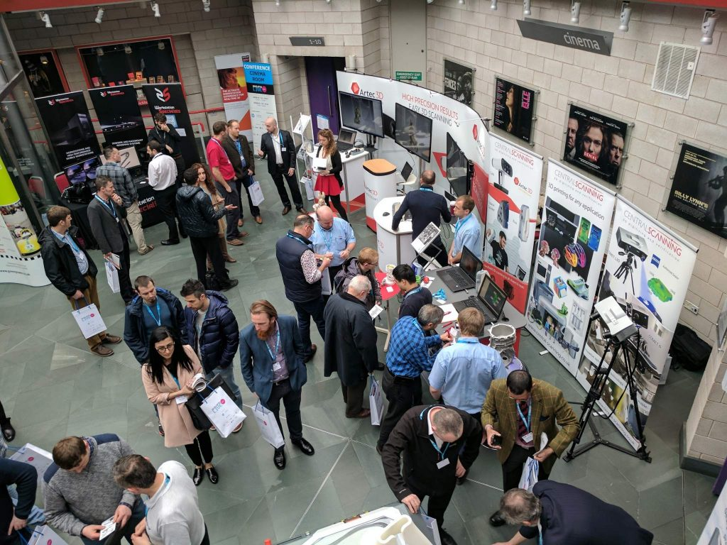 Visitors at the Develop 3D Live event. Photo by Michael Petch.