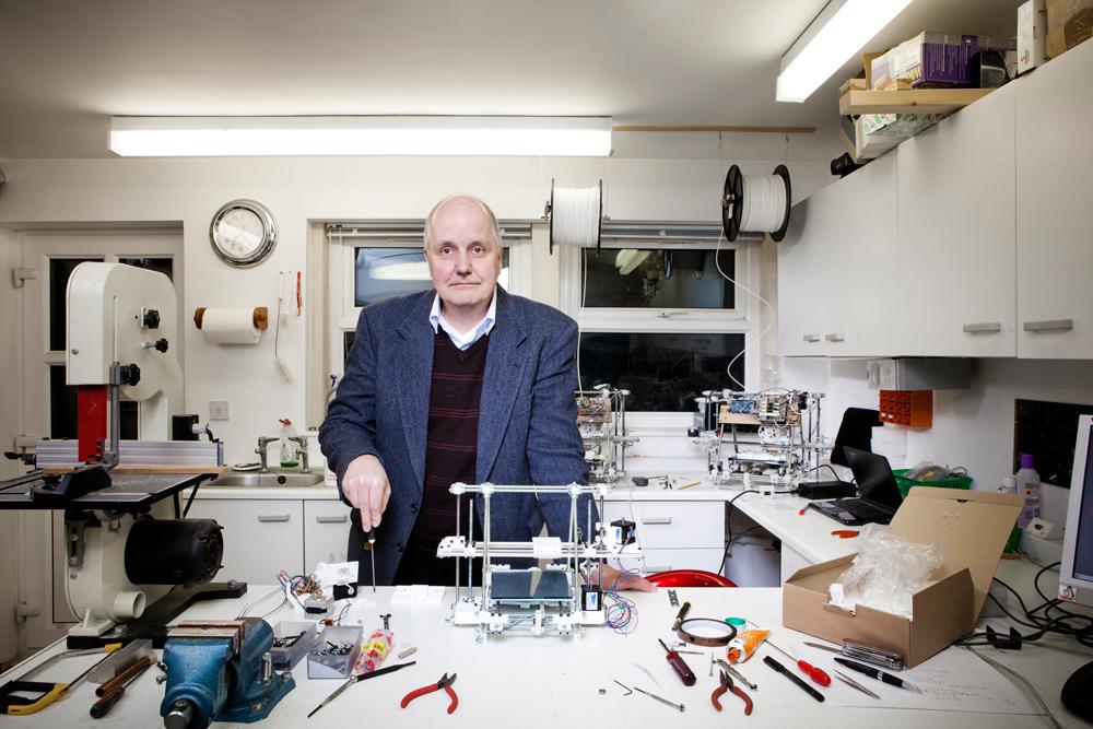 Dr. Adrian Bowyer. Photo via Phaidon