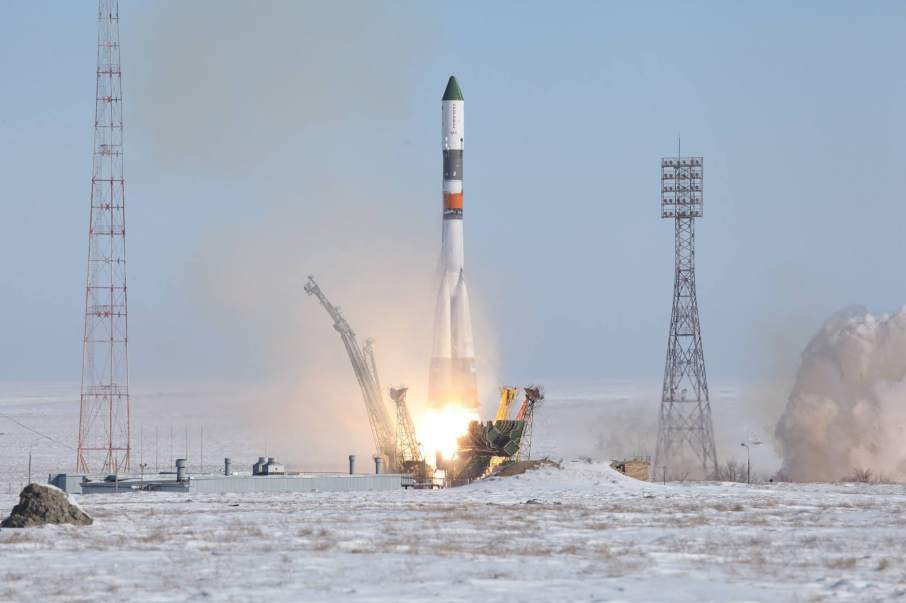 Carbon-plastic fairing is used on the Soyuz-U rocket from the Russian space program Roscosmos (РОСКОСМОСV) Photo via Roscosmos on Facebook
