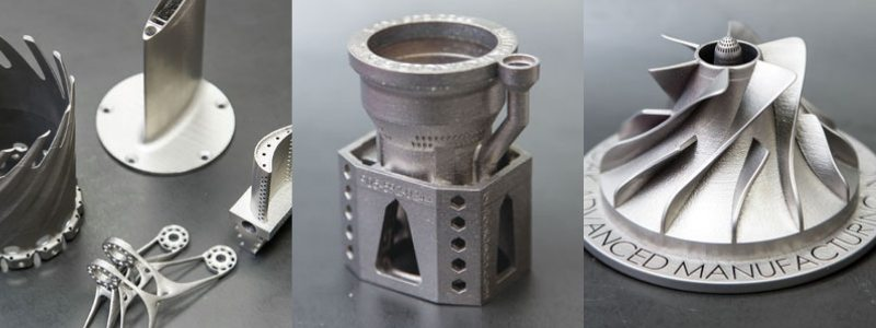DMLS additive metal manufacturing sample parts. Photos via Burloak Technologies.