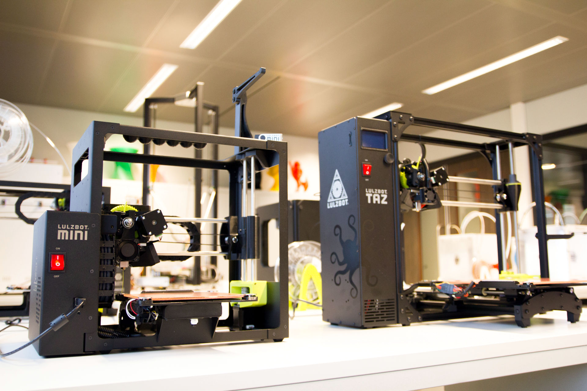 The Lulzbot 3D printers. Image via Aleph Objects.