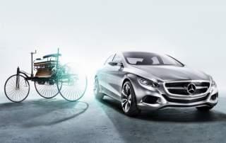 Mercedes-Benz past and present cars. Image via Daimler