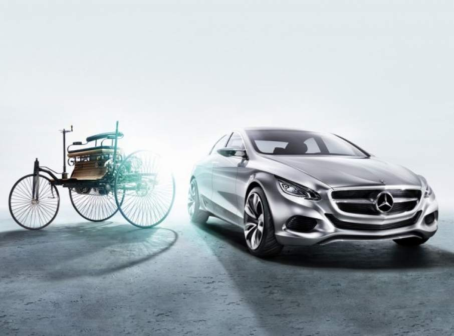 Mercedes-Benz past and present cars. Image via Daimler