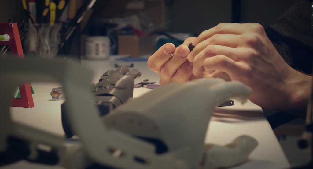 Piecing together 3D printed prosthetic arms by WiDE.