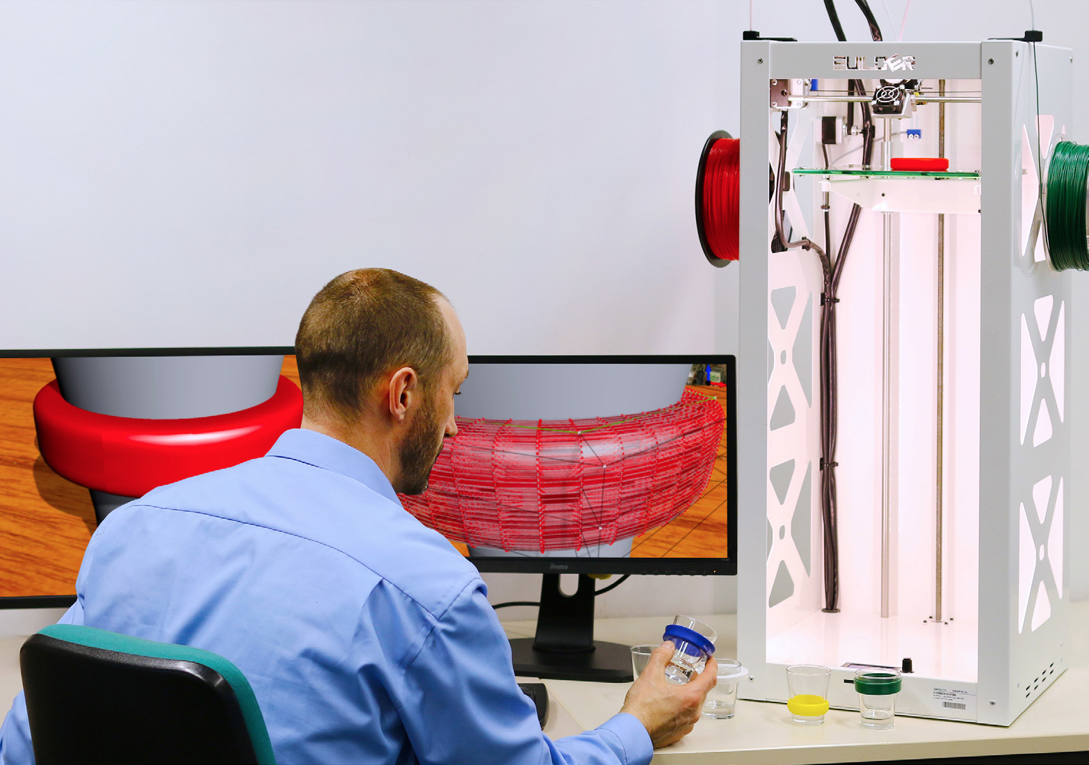 "The ""Go Beyond 4.0"" 3D design simulation software in use. Photo via Fraunhofer IGD."