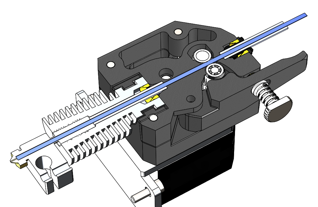 The BMG extruder is fully guided for optimum 3D printing. Image via Bondtech.