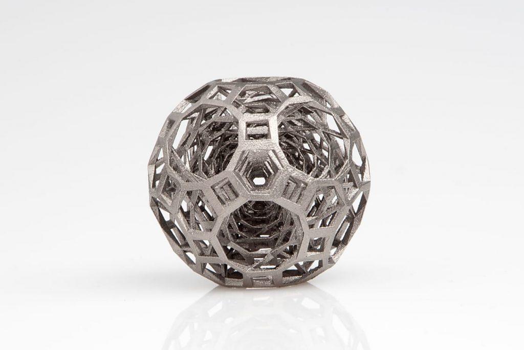 A metal 3D printed gyro produced by SLM solutions. Photo via mynewsdesk
