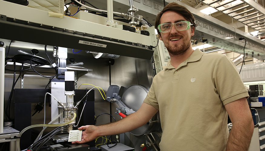 Lawrence Livermore scientist Luke Thornley. Photo by Kate Hunts for LLNL.