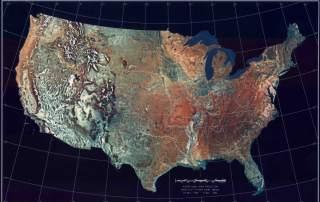 Satellite map of the USA. Image via NASA