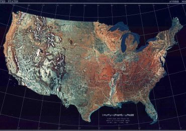 Satellite map of the USA. Image via NASA