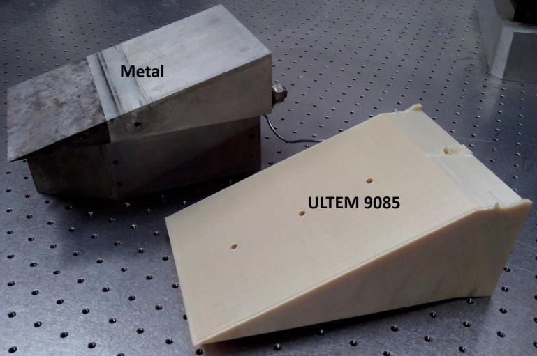 "Figure 3 shows two similar ""geometry models made of metal and ULTEM 9085."" Image via Aerospace Research Central."