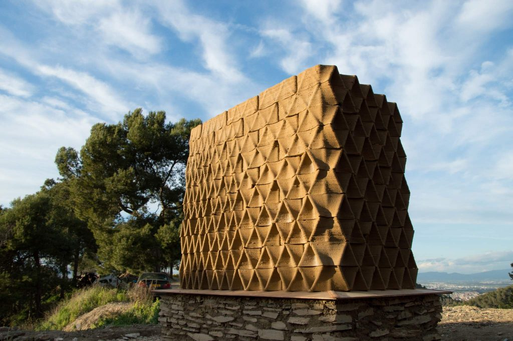 "A modular Terra Performa structure made from 3D printed ""bricks"". Photo by the Institute for Advanced Architecture of Catalonia."