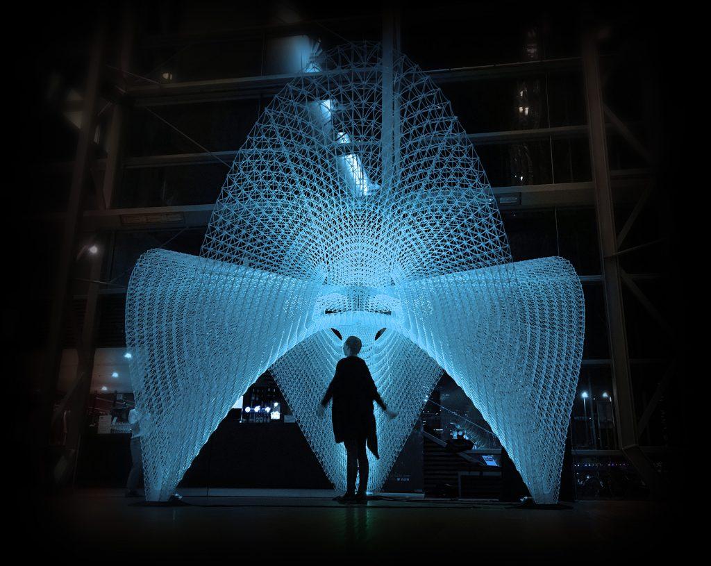 A 3D printed sculpture structure. Photo via Ai Build
