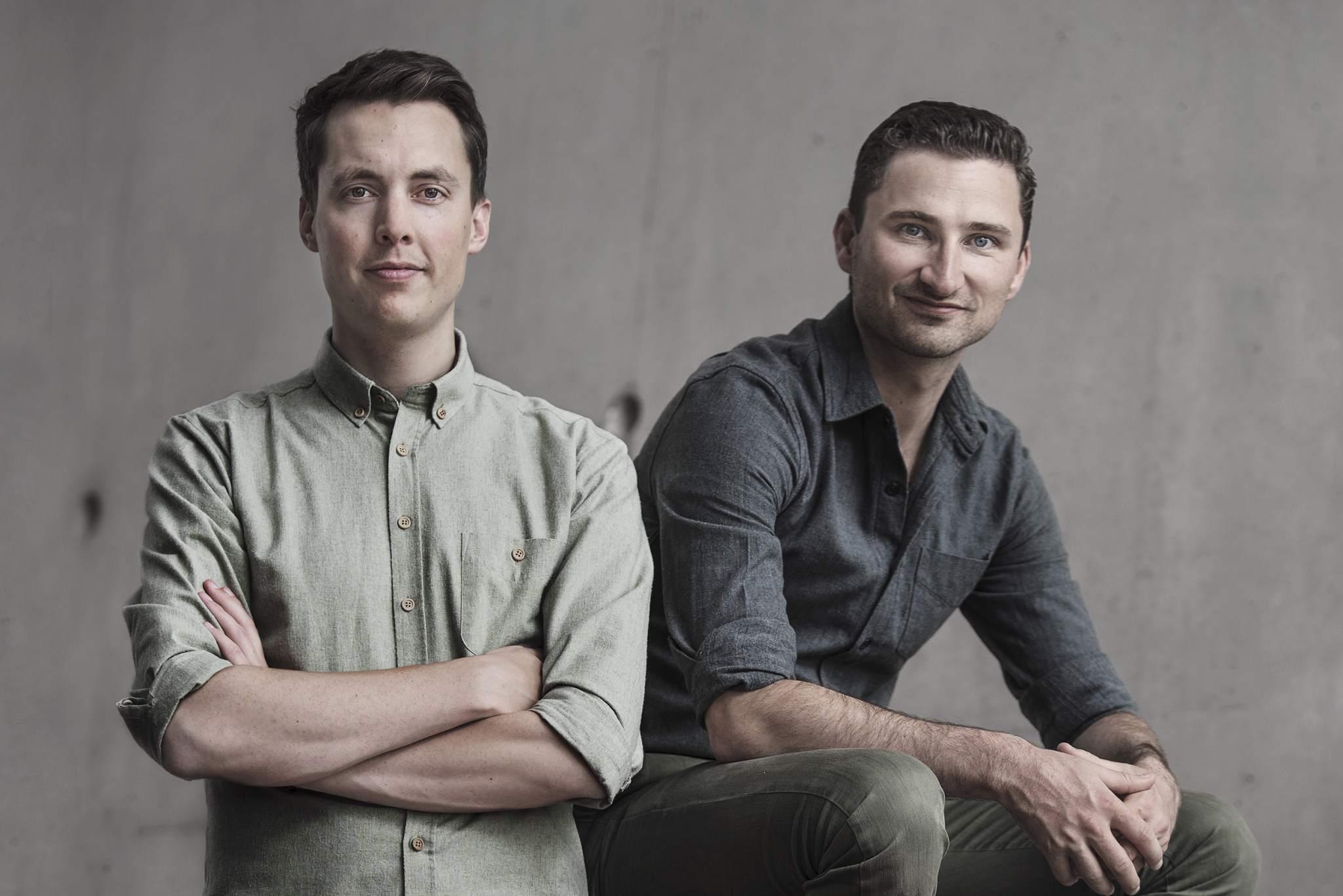 3D Hubs founders BrianGarret (left) and BramdeZwart (right). Photo via 3D Hubs.