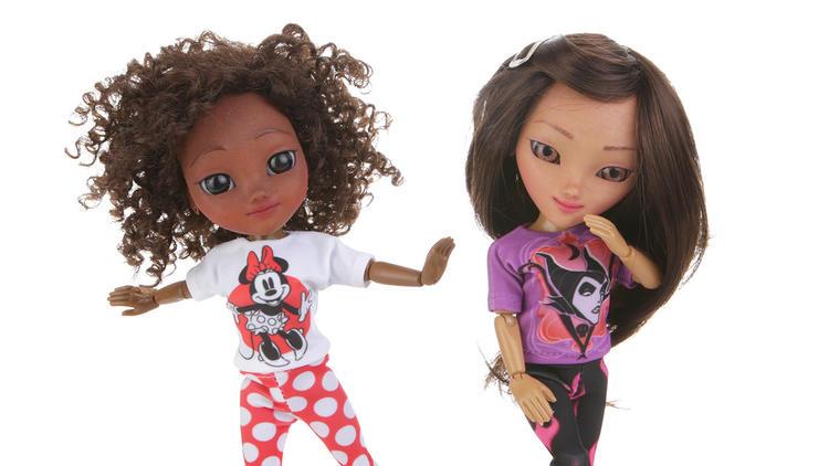 Makies dolls in Disney apparel. Photo via MakieLab