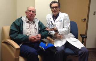Dr. Markovic and Darrel French, the first patient to receive the treatment.