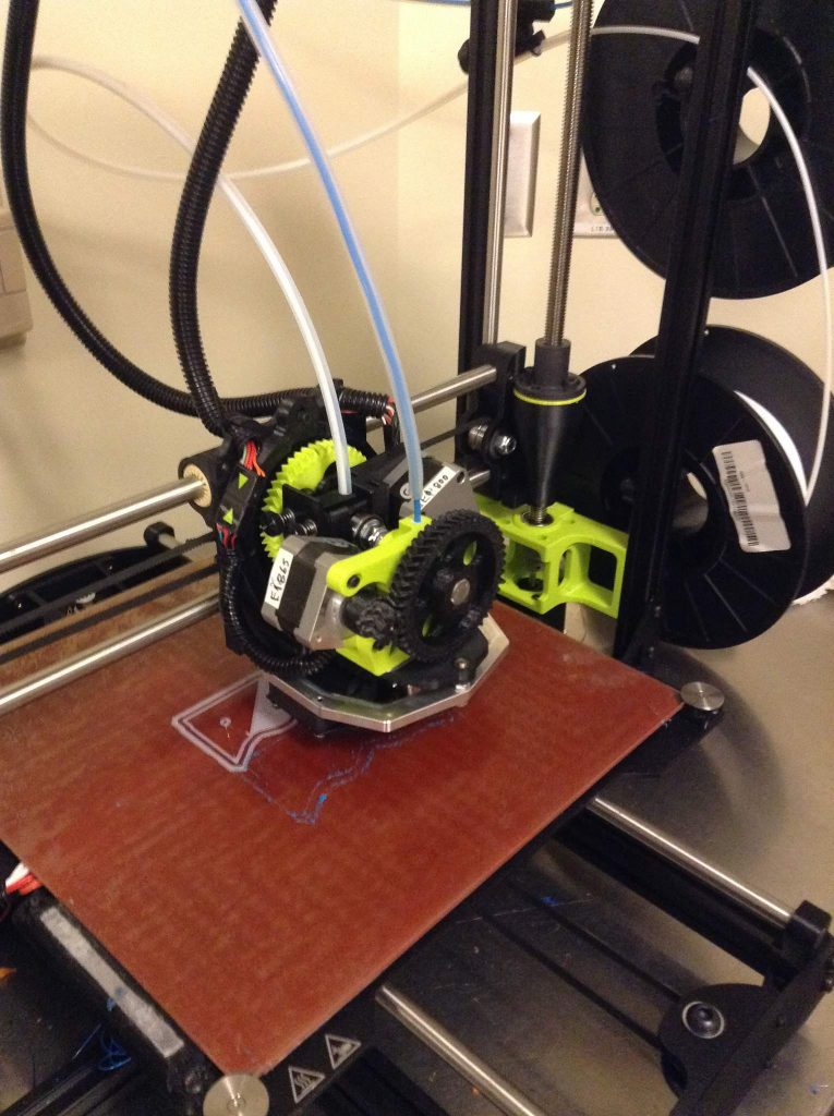 The Lulzbot TAZ 6 3D printer.