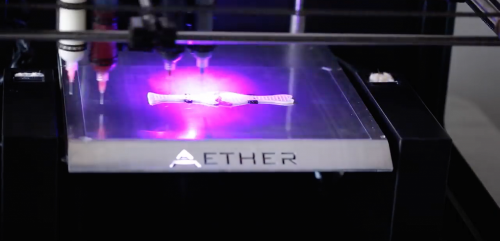 Aether's 3D bioprinter.
