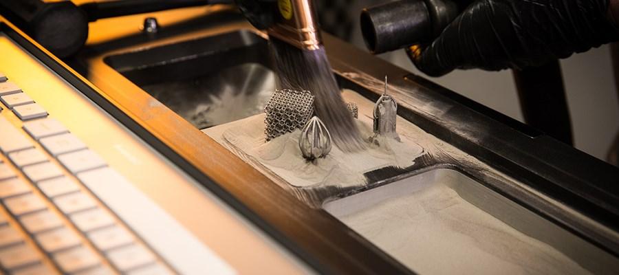 Direct Metal Laser Sintering. Photo via Proto Labs.